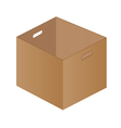 Brown paper box on a white background One brown vector image vector image