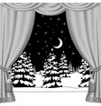 christmas and new year curtain vector image