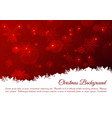 christmas background with snowflakes in red color vector image vector image