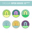 circular open house logo emblem graphic vector image