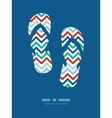 Colorful ikat chevron frame flip flops decor vector image