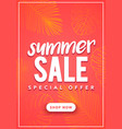 colorful summer sale banner template vector image
