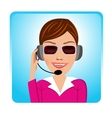 customer support operator with glasses vector image