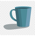cute blue cup icon cartoon style vector image vector image