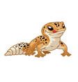 cute cartoon leopard gecko vector image vector image