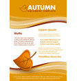 dark yellow and brown seasonal autumn document vector image