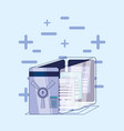data security files in safe box vector image vector image
