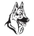 decorative portrait german shepherd in profile vector image