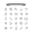 fertilization pregnancy and motherhood icons vector image