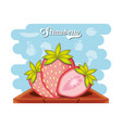 fruit strawberry healthy food vector image
