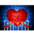 Glossy heart happy valentines day background vector image vector image