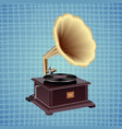 gramophone on a blue background vector image