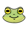 grated cute frog head wild animal vector image
