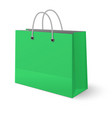 green paper classic shopping bag isolated vector image vector image