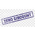 grunge zero discount rectangle stamp vector image