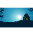 halloween with scary castle landscape vector image vector image