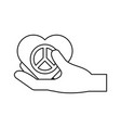 hand heart symbol vector image