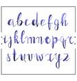 Handwritten calligraphic font alphabet written by vector image vector image
