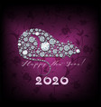 happy new year card 2020 greeting card with vector image vector image