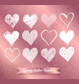 hearts on rose gold background vector image vector image