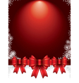 holiday background with bows and snowflakes vector image vector image
