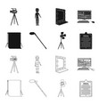 hromakey script and other equipment making vector image vector image