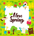 i love spring paper concept vector image vector image