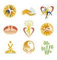 icons fitness spa massage vector image vector image