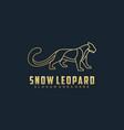 logo snow leopard gradient line art style vector image