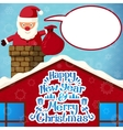 Merry christmas Santa Claus climbing in the vector image vector image