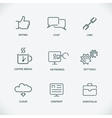 Modern line SEO icons set of seo service symbols vector image