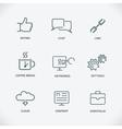 modern line seo icons set seo service symbols vector image