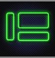 neon light banners set light frame vector image