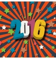 New Year 2016 poster vector image vector image