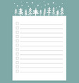 new year and christmas holidays to do list vector image vector image