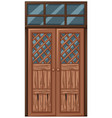 old wooden door in bad condition vector image vector image