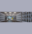 people working in data center room hosting server vector image vector image