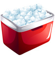 Red icebox full of ice vector image vector image
