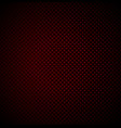 red technology background with seamless perforated vector image vector image