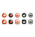 reddit modern 3d and flat icons set vector image