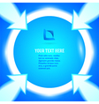 round frame arrows bright blue background vector image vector image