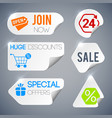 sale and shopping labels set vector image