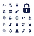 secret icons vector image vector image
