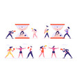 set businesspeople fighting and arguing vector image vector image