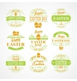 Set Easter Holiday typography vector image