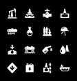 Set icons of oil industry vector image vector image