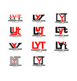 set initial letter lyt logo template design vector image vector image