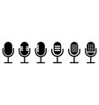 set microphone icon sign vector image