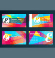 Set of templates for business cards elements for