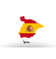spain country flag inside map contour design icon vector image vector image